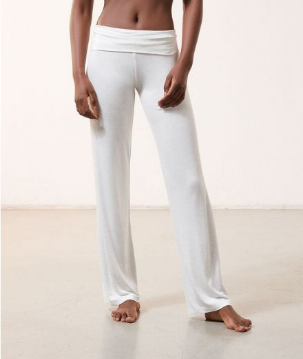High waist fluid Trousers Grey
