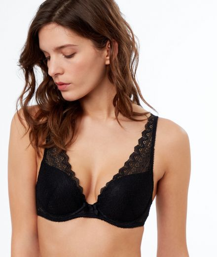 ICONE Lace triangle push up bra