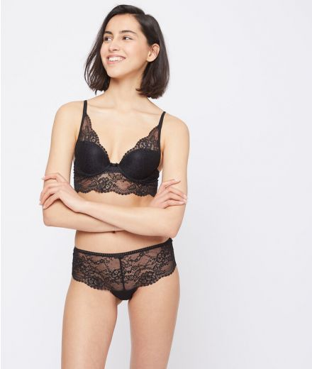 IMPRUDENTE Floral lace shorty