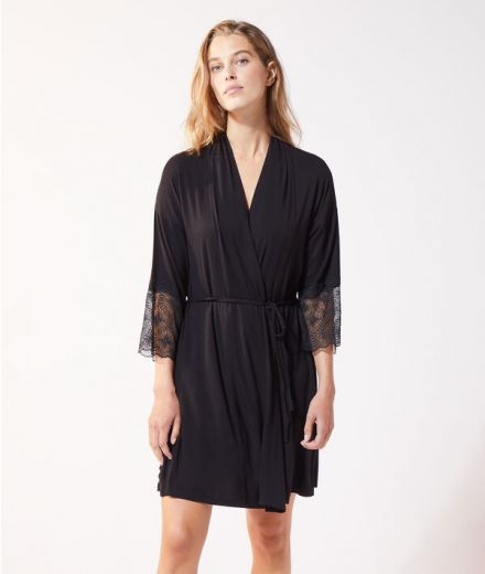 Lace trimmed Negligee