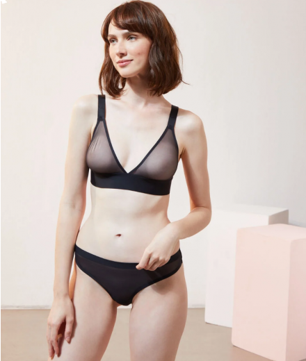 PURE MESH Bra N ° 8 - Triangle in tulle without underwire