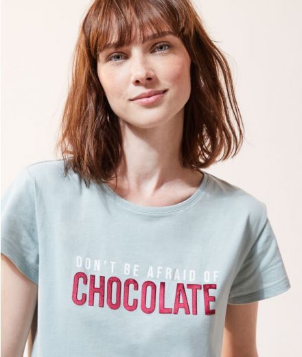 Don't be afraid of chocolate' t-shirt Green