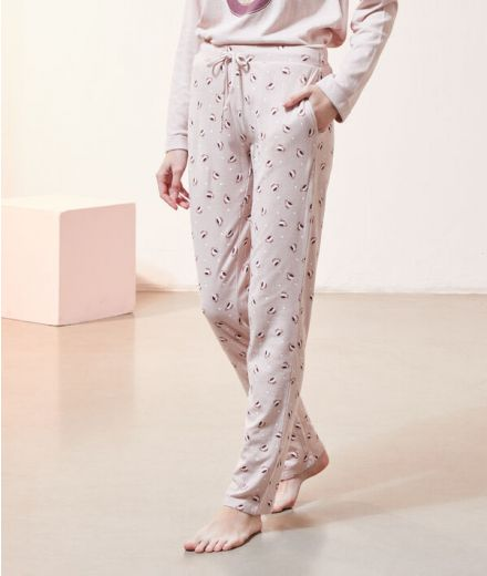 Trousers in print Pink