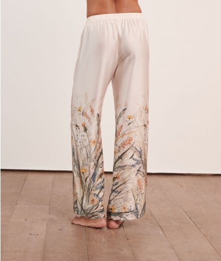 ERNY Printed satin trousers
