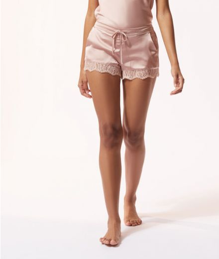 Satin Shorts with lace details