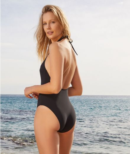 AMAZING Wireless one-piece swimsuit with buttons below…