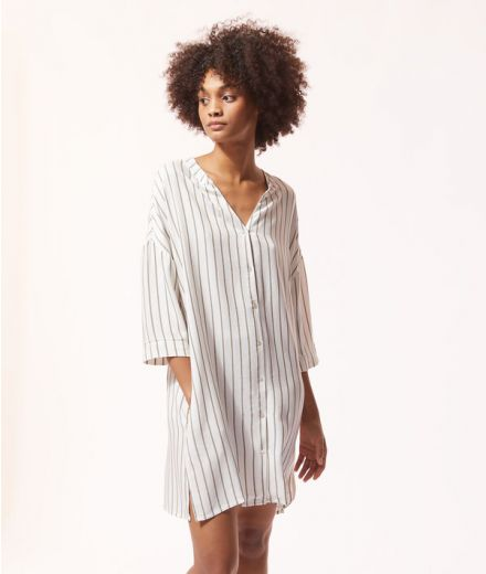 Striped button-down nightdress