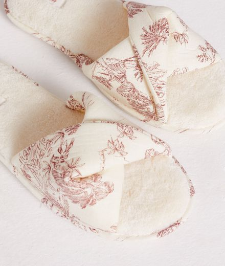 ALLY Printed knotted thong slippers