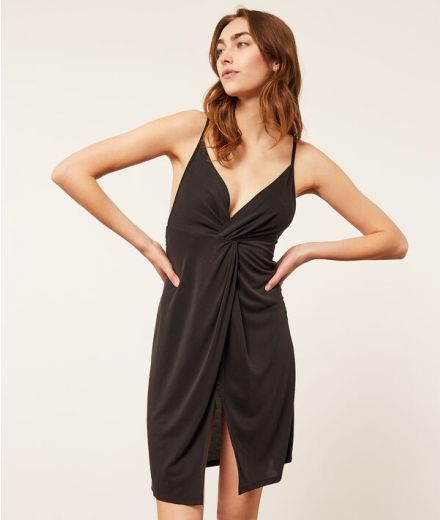 BERTAH Twist-front nightdress with criss-crossed straps in the back