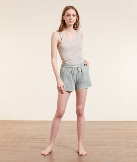 PLANT DYED Ribbed tank top, vegetable dye
